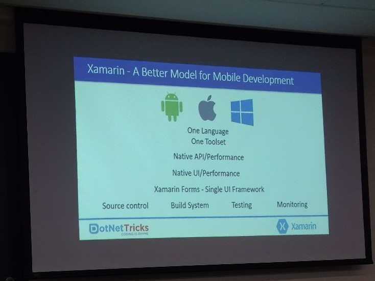Xamarin Live Player - Xamarin Introduction Slide from live event