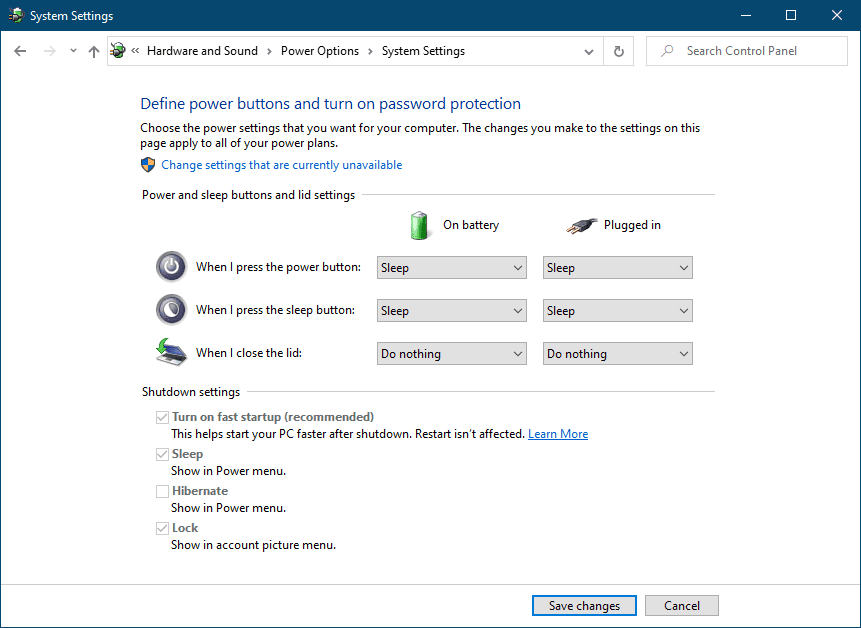 How to Shut down Windows 10? Advance Power System Settings.