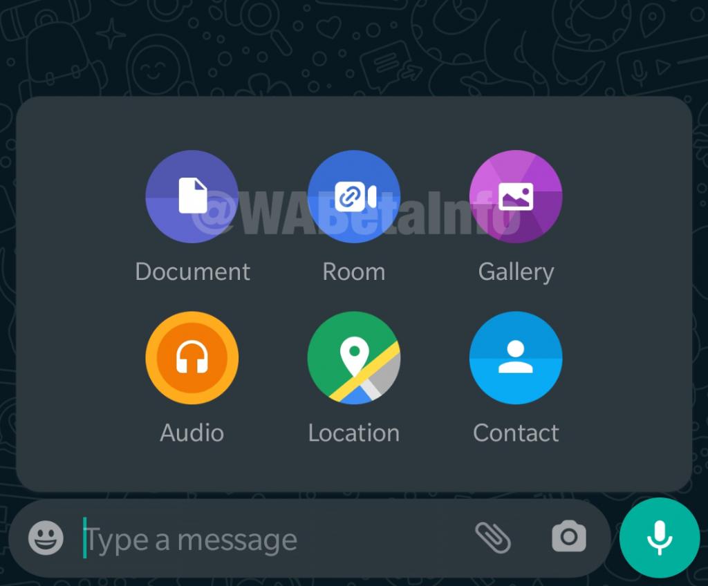 WhatsApp Messenger Rooms Shortcut
