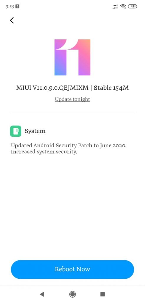 POCO F1 Android 10 update MIUI Build V11.0.9.0.QEJMIXM available 12